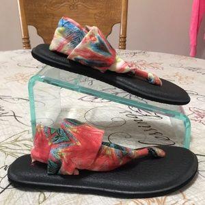 Sanuk Thong Flip Flop Slingback Sandals Size 7